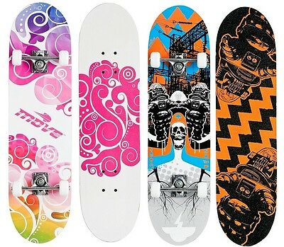 Skateboard Board Skate Funboard Komplettboard 98cm x 24cm TWO-SIDED GRAFIK