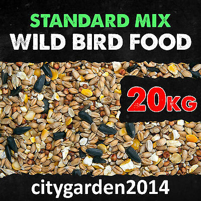 20kg Standard Wild Bird Seed Food Mix Suitable for Feeders and Bird Tables