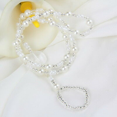 Fashion Barefoot Sandal Bridal Beach Pearl Foot Jewelry Anklet Chain Bracelet LS