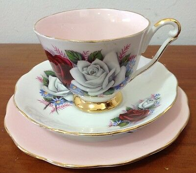 Queen Anne Roses Trio Set (Pink)