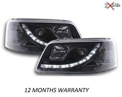 Vw T5 Caravelle Black R8 Led Drl Daylight Running Lights Devil Eye Headlights