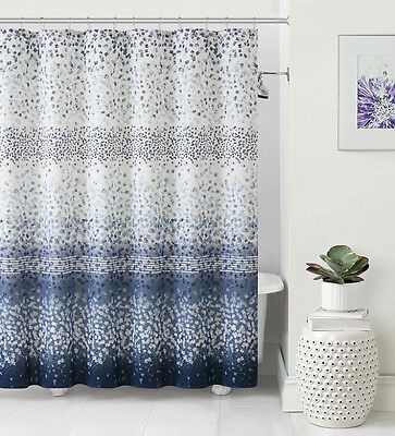 Navy Blue And Grey Shower Curtain. Stripe Navy and Gray Shower ...