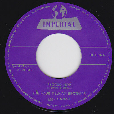 The Four Tielman Brothers - Record Hop / Swing It up - Imperial - Rockabiilly