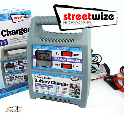 8 Amp Streetwize 12v / 6 Volt Heavy Duty Battery Charger Car Caravan Boat Van