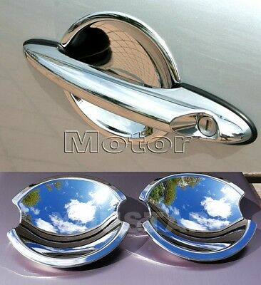 2X ROYAL CHROME Door Handle Cups Insert for MINI Cooper  R50 R52 R53 R55 R56 R57
