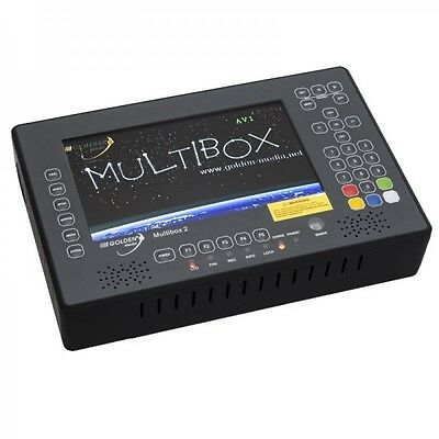 GOLDEN MEDIA MULTIBOX 2 Mesureur de Champ Satellite DVB-S2, T2 & C avec Analyseu