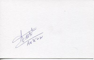 A 5 x 3 inch white card. Personally signed by Cedric Anselin of Norwich City.