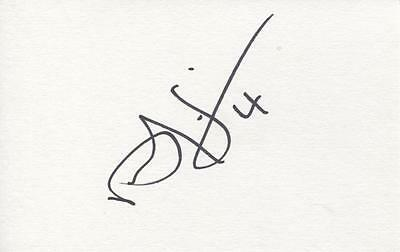 A 5 x 3 inch white card. Personally signed by Dean Sinclair of Norwich City.