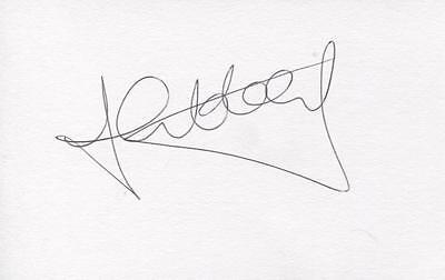 A 5 x 3 inch white card. Personally signed by Zema Abbey of Norwich City.
