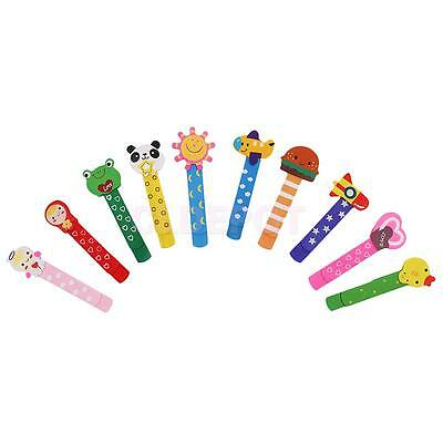 10pcs Lovely Cartoon Wooden Bookmark Paper Clips for Kids Perfect Gift