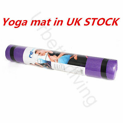 1 Yoga Mat Gym Exercise Thick Fitness Physio Pilates Soft Mats Non Slip Carrier