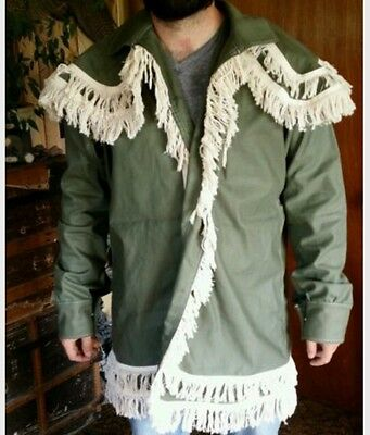 Woodsman Frock Coat/ jacket for mountain man fur trade re-enactments Size: Lg