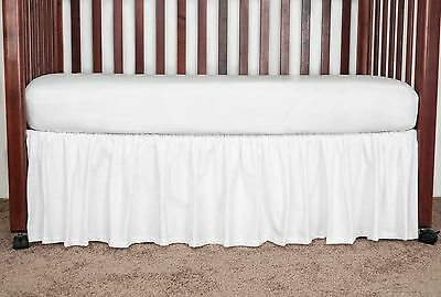 Clearance Baby bed Nursery Crib Gathered Dust Ruffle Bed Skirt Poly Cotton