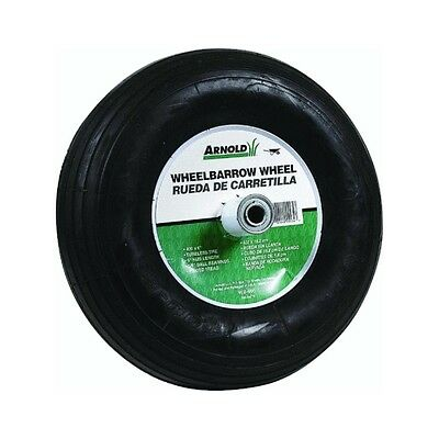 "Arnold Contractor Wheelbarrow Replacement Wheel 4.00"" X 6"" Pneumatic 14"" Dia"