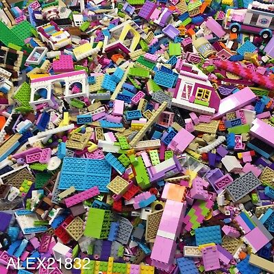 Lego Fiends Bulk Lot 2 Pounds LBS of Random Friends Parts Pink White Girl Colors
