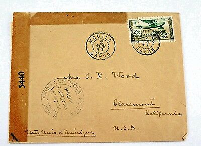 1943 Letter Env signed by Albert Schweitzer to J P Wood French Equatorial Africa