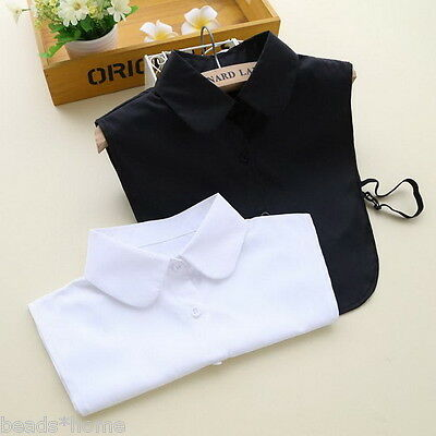 New False Collar Detachable Black White Blouse Shirt Collar Decoration One Size