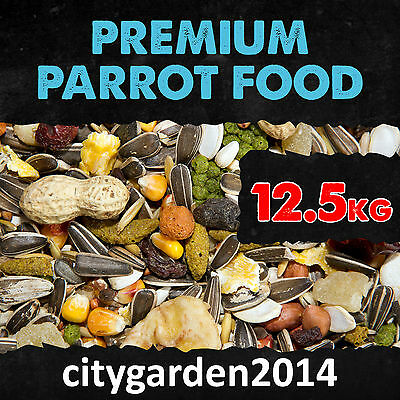 12.5kg Premium Parrot Food with Fruit, Chillies and Monkey Nuts