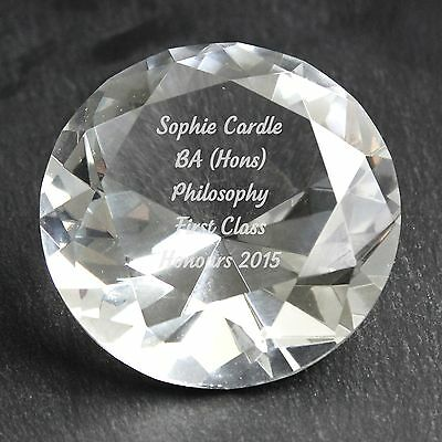 Personalised Engraved Diamond Paperweight - Christmas, Birthday, For Mum, Sister