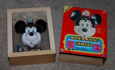 """NOS! DISNEY1960's MICKEY MOUSE""""MICK-A-MATIC"""" INSTANT LOADING CAMERA #875"""