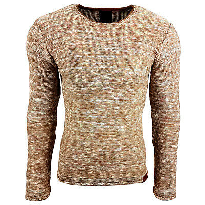 Subliminal Mode - Pull Chic Classe Fin Homme Tricot SB-13268 Petite Maille