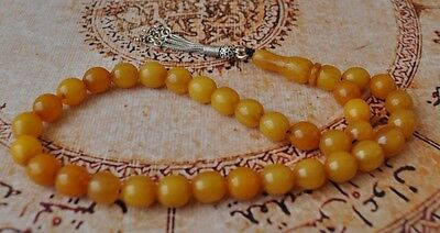 Vintage Egyptian Misketa-Butterscotch Bak​el​ite Worry Beads- Komboloi Tasbih