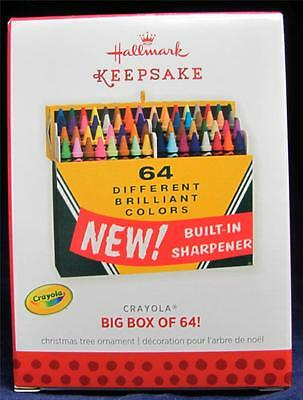 2013 Hallmark Keepsake Ornament Crayola Big Box of 64! NIB