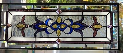 Stained Glass window hanging 33 X 13""