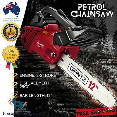 "25CC Commercial Petrol Chainsaw 12"" Bar Tree Pruning Garden Chain Saw New GIANTZ"