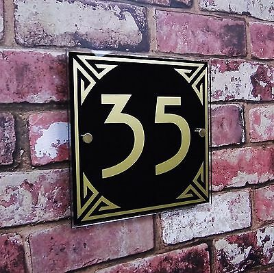 House Sign Door Number Plaque Street Address Plate Personalised