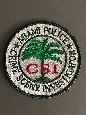 Miami Police Department CSI Iron on/Sew on Cloth patch
