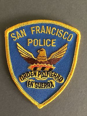 San Francisco Police Department Iron on/Sew on Cloth patch