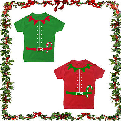 Christmas elf T-shirt Festive Joke Gift Comedy Santa Top baby babies boys girls