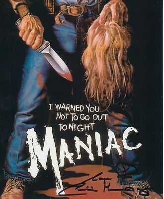 Caroline Munro In Person Signed Poster Photo - A1117 - Maniac