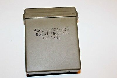 New, USGI First Aid Kit Insert Case, Plastic, Watertight Y47