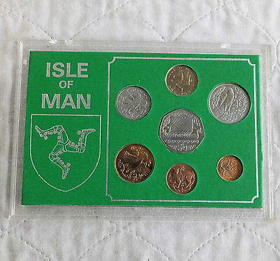 ISLE OF MAN 1981 7 COIN MINT SET - cased