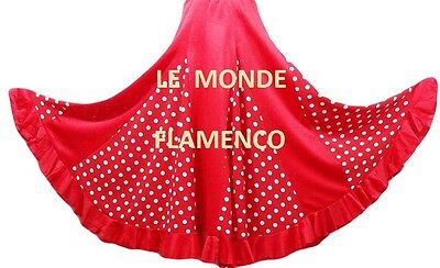 Jupe   Flamenco/ Sevillane  Rouge/blanc 8- 02