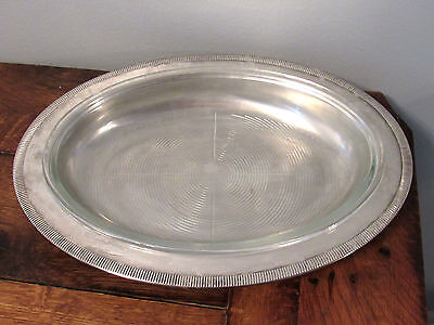 NEWPORT Silverplate by Gorham Oval Serving Platter WITH ORIGINAL GLASS INSERT