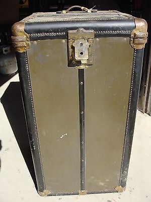 Vintage Wheary Steamer Wardrobe Trunk. (Early 1900's)