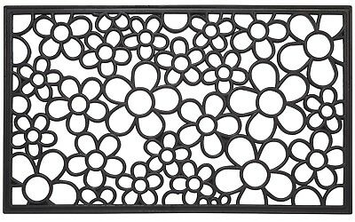 Floral Wrought Iron Heavy Duty Welcome Outdoor Rubber Door Mat 18 x 30 Inches