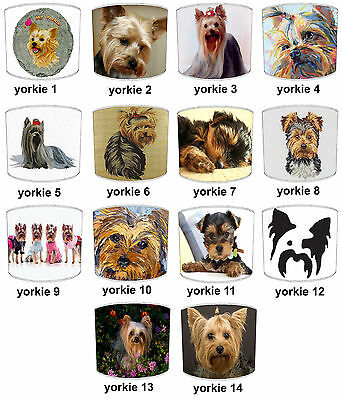 Yorkshire Terrier Designs Lampshades Ideal To Match Yorkshire Terrier Cushions