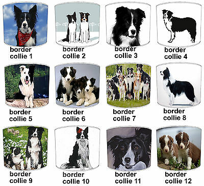 Border Collie Dog Designs Lampshades Ideal To Match Border Collie Cushions & Bed