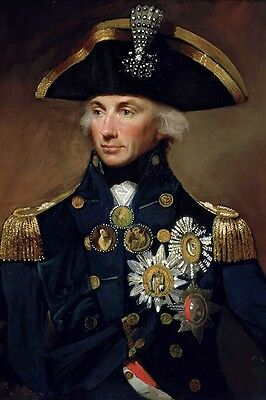 New 5x7 Photo: Royal Navy Admiral Horatio Lord Nelson, Hero of Napoleonic Wars