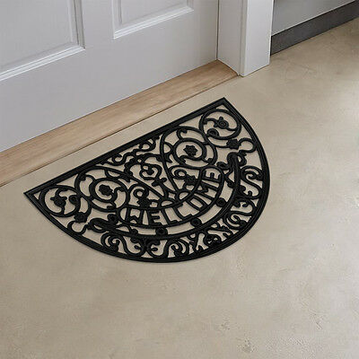 Half Round Wrought Iron Heavy Duty Rubber WELCOME Doormat / Entrance Door  Mat