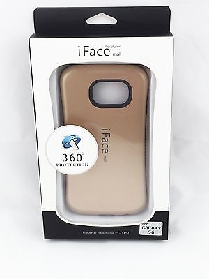 iFace Shockproof Heavy Back Skin Hard Case Cover for Samsung Galaxy S6 Gold