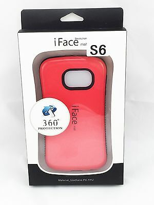 iFace Shockproof Heavy Back Skin Hard Case Cover for Samsung Galaxy S6 Red