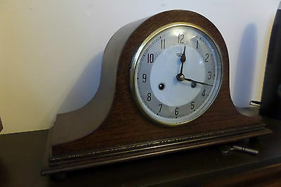 "RESTORED VINTAGE ""one of a kind"" SMITHS MANTEL CLOCK    115 PHOTO RECORD OF WORK"