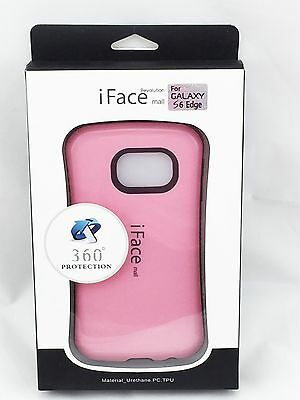 iFace Shockproof Heavy Hard Case Cover for Samsung Galaxy S6 Edge Pink