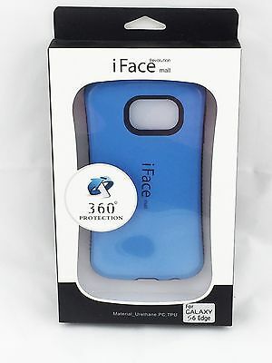 iFace Shockproof Heavy Hard Case Cover for Samsung Galaxy S6 Edge Blue