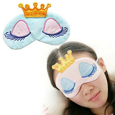 Soft Travel Sleeping Mask Eyes Cover Sleeping Blindfold Shade Princess Crown